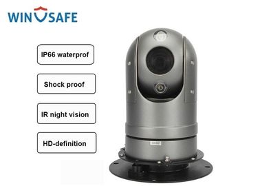 Black IP HD Mini Vehicle Rugged PTZ Camera Dome Onvif Supported With Magnetic Mount